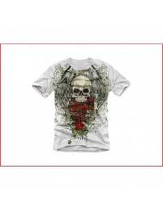 Miami Ink Heren T-shirt - Winged Skull