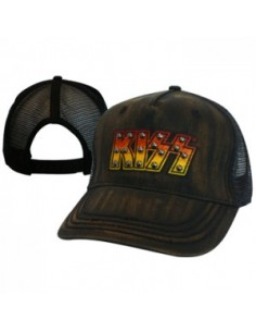 Kiss - Black Adjustable Cap Met Logo