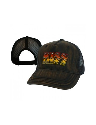 Kiss - Black Adjustable Cap With Logo