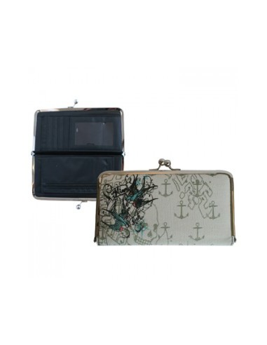Miami Ink - Flying Swallows Clip Wallet