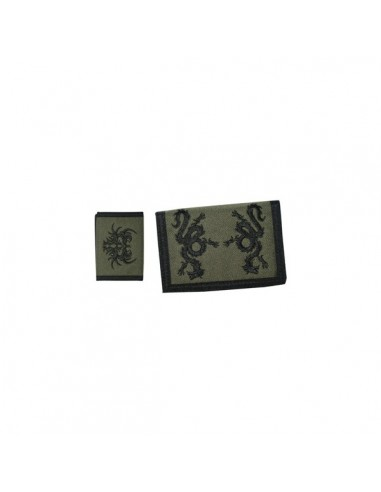 Velcro Wallet - Tribal Dragon Army Green