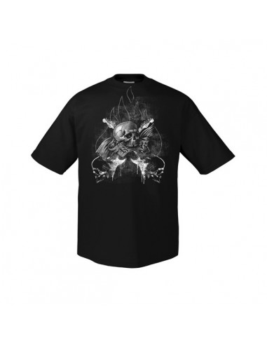 Rock n Roll Guitar Skull - T-Shirt