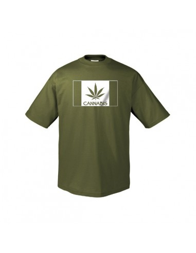 "Men&#39s Green T-Shirt  - ""Cannabis"" Leaf"