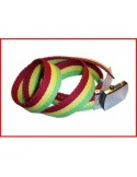 Belt Rasta colours  red-yellow-green Stripes