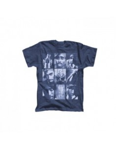 2 Pac Tupac - Grey Collage Photos Mens Tee
