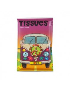 Tissues - Bus Flower Power Peace n Love