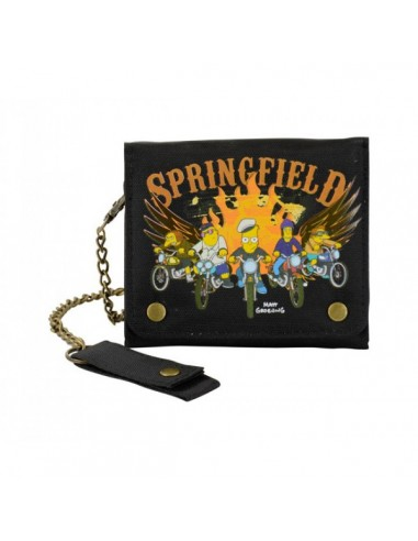 The Simpsons Springfield Biker - Bi-fold chain wallet