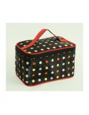 Make up tas - Case Zwart Vintage Polka Dots