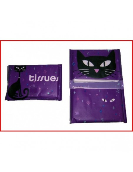 Vinyl tissue pouch Black Cat