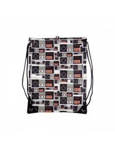 Nintendo - Black, Controller Logo Gym Bag