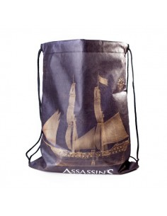 Assassins Creed Black Flag - Zwarte Gymtas Rugtasje The ship