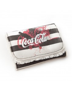 Coca Cola Portemonnee - Black White