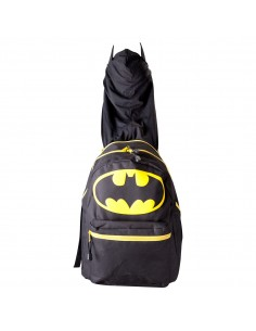 Batman Black Hooded  Suit Up Backpack Bag