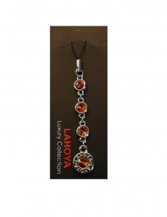 Handy Anhänger Swarovski Crystal - Orange