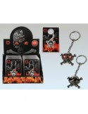 Skull Led Keychain - Red flashing action