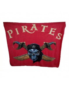 Fleece blanket Pirat Skull