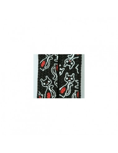 Shoelaces Cat Black White
