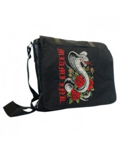 Miami Ink Messenger Bag Snake Rose
