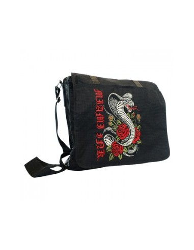 Miami Ink Messenger Tasche Snake Rose