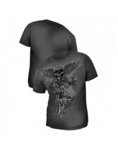 Miami Ink Mens Shirt Grey flying skull