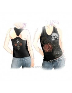 Death n Roses Alch Goth - Girls Ring Top