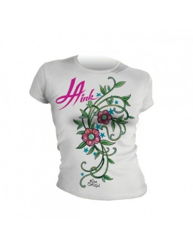 LA Ink Ladies shirt Pink Flowers