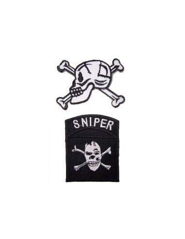 2 Skull Iron on Patches