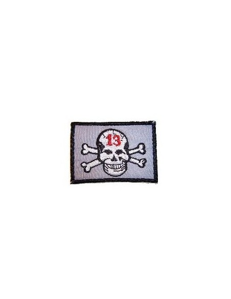 Lucky 13 Skull Iron on Patch