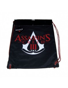 Assassins Creed III - Schwarz Sporttasche Gymbag Logo