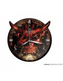 Alchemy Sixth Seal - Glass Wood Wall Clock