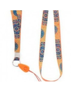 Handy Schnur - Indian Motif Orange