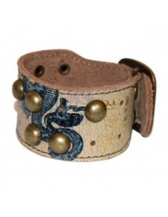 Miami Ink Studded Buckle Armband - Schlange