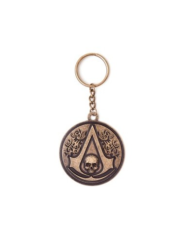 Assassins Creed IV - Round Metal Crest Skull