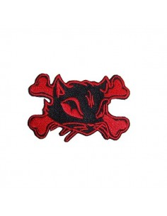 Red Bad Kitty Bones Patch