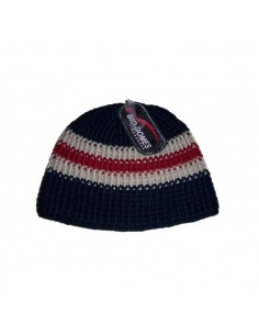 Mens Beanie - Bleu With Stripes